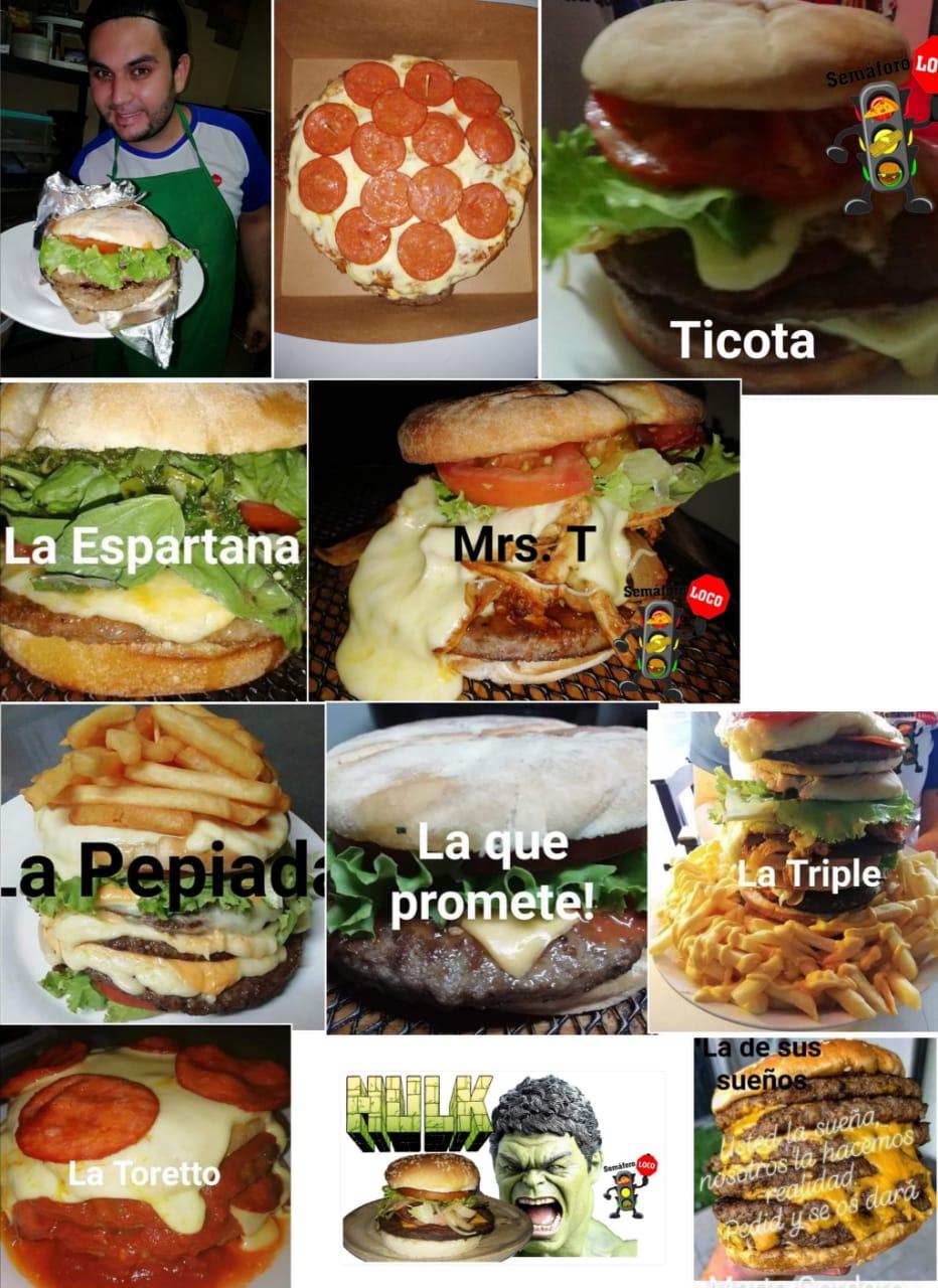 Variedad de hamburguesas