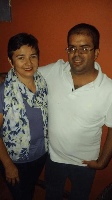 Con la mamá