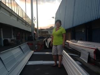 Rosario Alvarado explicó que el reemplazo del techo del gimnasio es una emergencia.