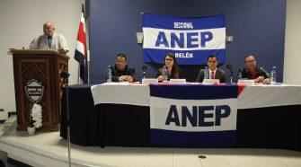 Ana Belén, Juan Luis, Manuel y Alexander participaron del debate organizado por ANEP seccional Belén.