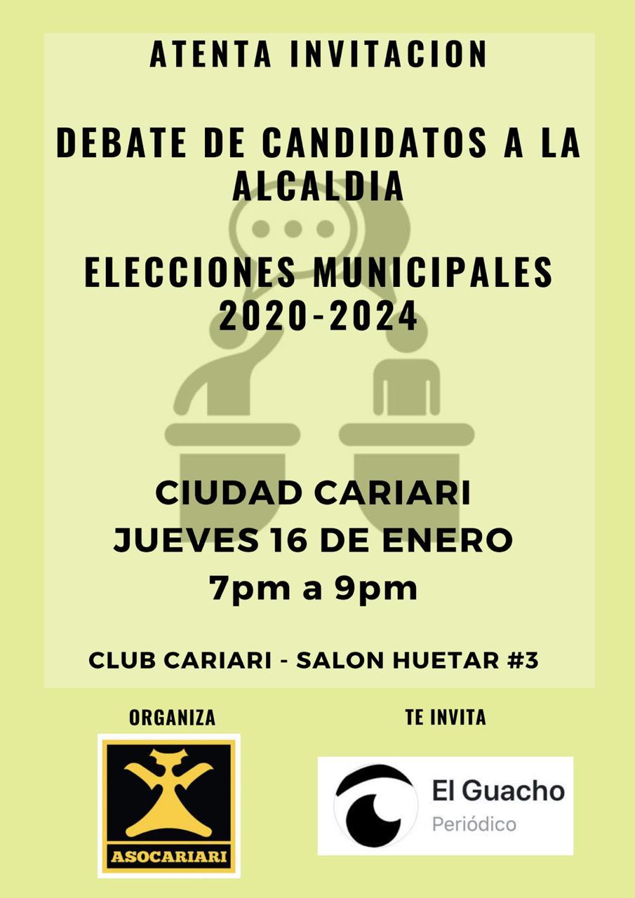 Este es el afiche del Debate Municipal organizado por ASOCARIARI