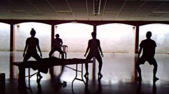 Integrantes del grupo Argamasa durante un ensayo