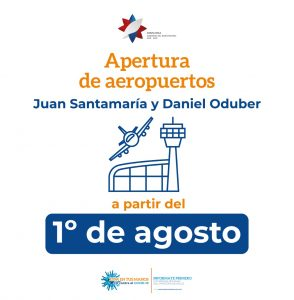 Apertura de aeropuertos iniciaría a partir del 1 de agosto.