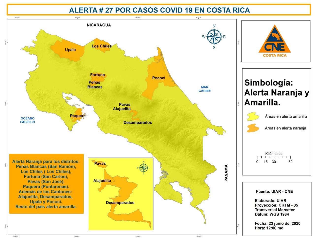 Pavas es el tercer distrito del Gran Área Metropolitana que se declara en alerta naranja.