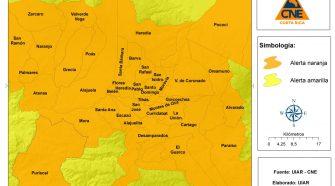 Belén está incluido dentro de los cantones del GAM en alerta naranja.