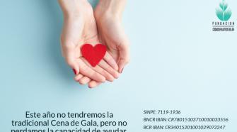 Los donativos los puede realizar a las cuentas a nombre de la Fundación de Cuidados Paliativos Belén.