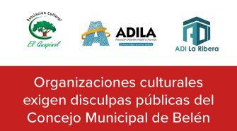 Organizaciones exigen disculpas públicas al Concejo Municipal