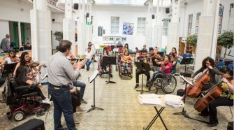 Ensayo general, Sala de juegos, Hospital Nacional de Niños, 2018. Foto: Ministerio de Cultura y Juventud