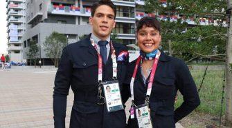 Arnoldo y Beatriz fueron parte de la delegación costarricense en la inauguración de las justas olímpicas.