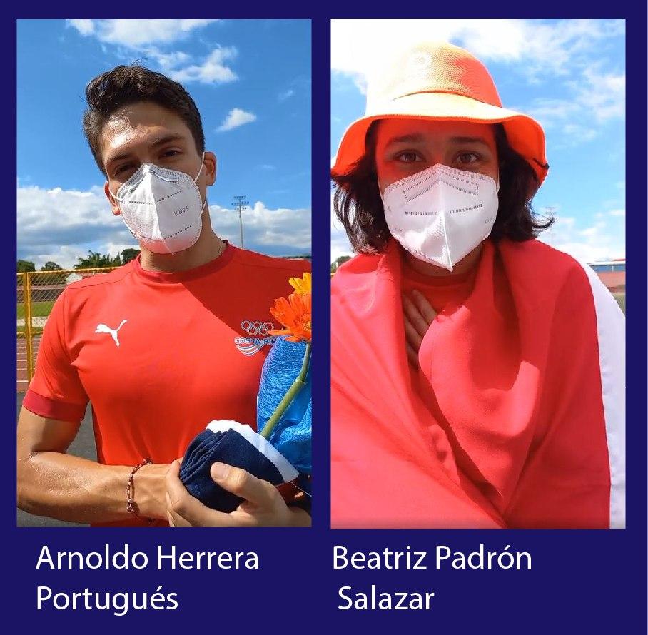 Arnoldo y Beatriz representaron al cantón de Belén en los Juegos Olímpicos Tokyo 2020.