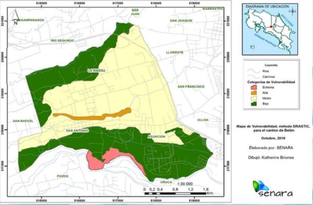 La mayor parte del territorio belemita cuenta con una vulnerabilidad media a la contaminación de las aguas subterráneas.