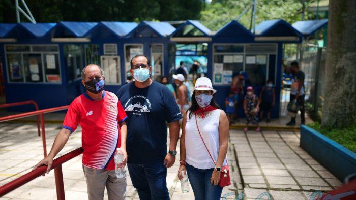Integrantes del Concejo Municipal de Alajuela se hicieron presentes en la jornada.